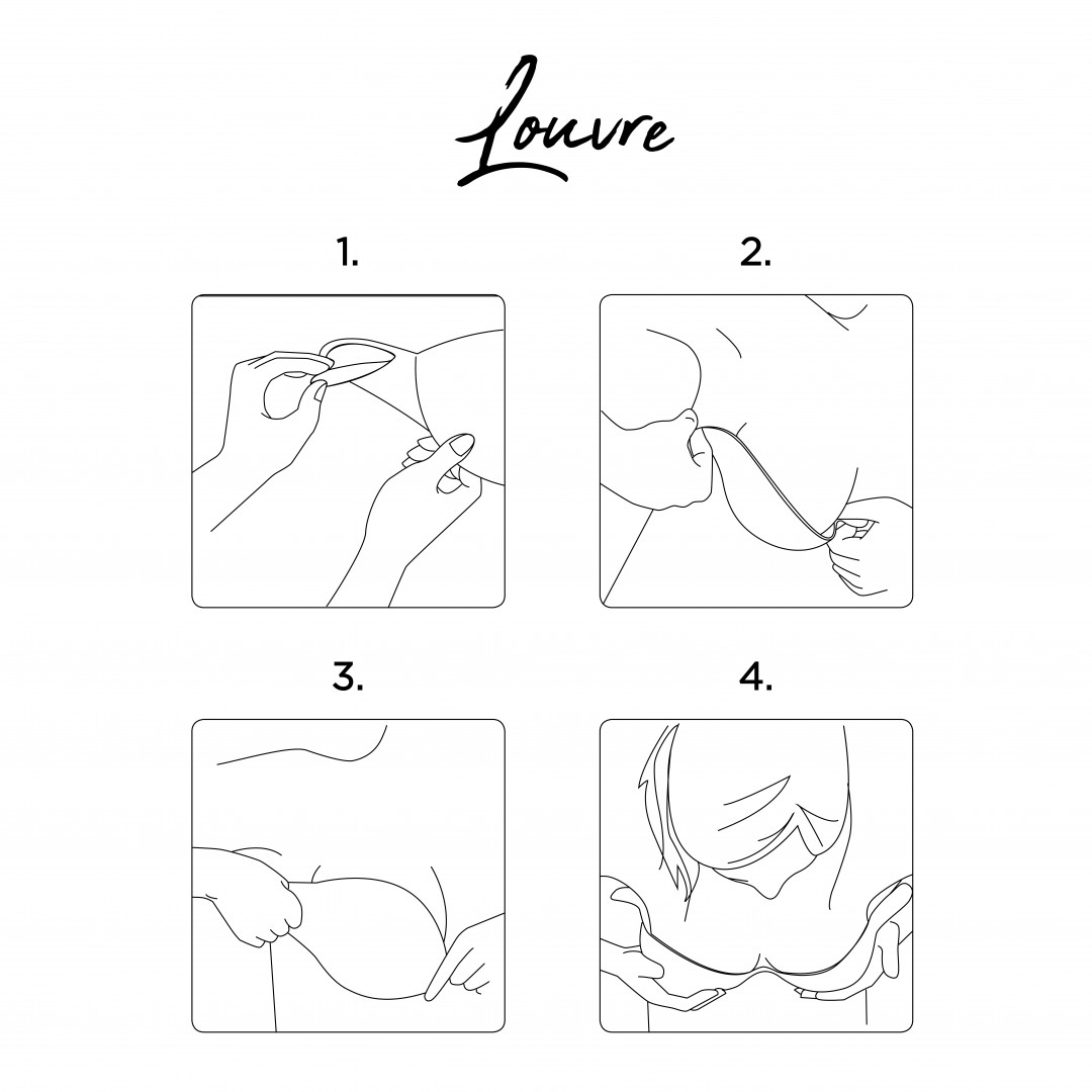 How to put on the push-up adhesive bra louvre gilsa paris