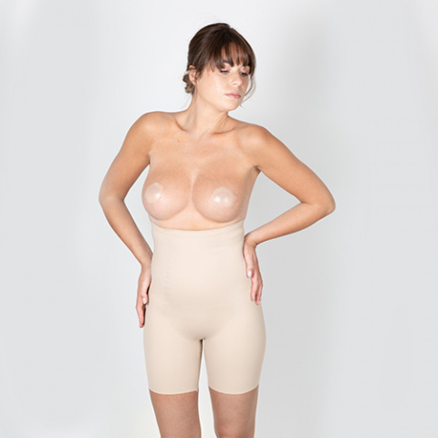302 new york wedding oui by gilsa paris skin effect second skin adhesive nipple cover + 421new york  skin fit high waist invisible shorts oui by gilsa paris worn face