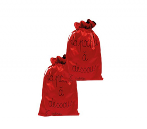 509-teknik-pouches-red-nylon-double set of 2 wedding oui by gilsa