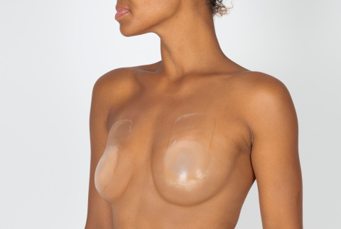 340 capri nude adhesive nipple covers lifting effect oui by gilsa worn slightly turned wedding