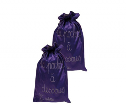 509-teknik-pouches-purple-nylon-double set of 2 wedding ouiby gilsa
