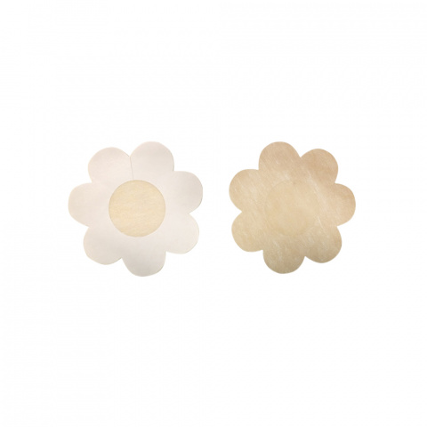 319 Flower gilsa paris petal nipple cover with adhesive polyester petals sold in one size per set of five pairs