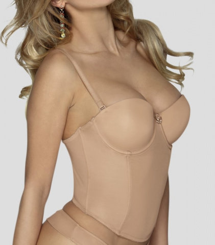 2206 corset push-up MIAMI nude Gilsa