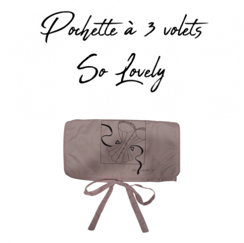 515 GILSA Paris So Lovely 3-fold pouch for storing delicate lingerie